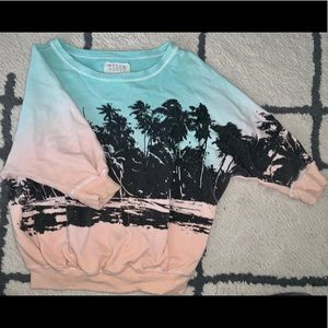 Billabong Palm Tree Print CrewNeck